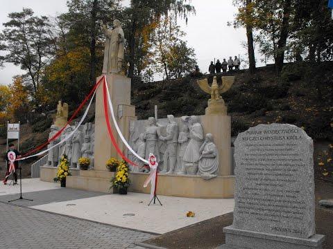 Odsłonięcie Pomnika Wdzięczności Chrystusa Króla w Sępólnie Krajeńskim, 18.10.2014 r.