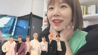 Video BTS 방탄소년단 작은 것들을 위한 시(Boy With Luv) 공개되던 날💜, 회사 아미 3인과 함께 리액션 | BTS REACTION MP3, 3GP, MP4, WEBM, AVI, FLV Juli 2019