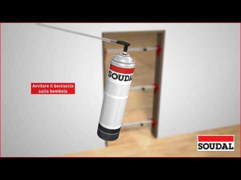 Installazione di porta interna con schiuma PU 2 componenti manuale