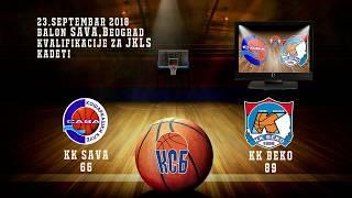 kk sava kk beko 66 89 (kadeti, 23 09 2018 ) košarkaški klub sava