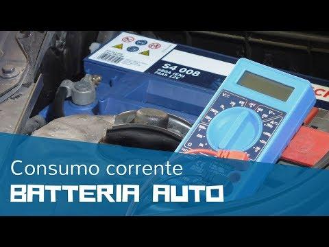 Come misurare il consumo della corrente della batteria dell'auto con il tester/multimetro