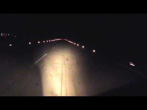 Ночная посадка видео