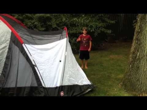 How to assemble our Swiss Gear 8 person tent