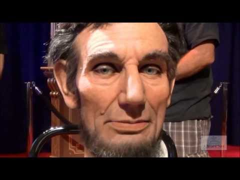 Animatronic - As part of the Journey into Imagineering pavilion at the D23 Expo, parts of the latest Audio-Animatronic figures were on display. This head of Mr. Lincoln is...