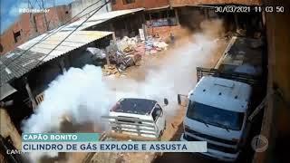 Capão Bonito: dono de ferro-velho fica ferido após cilindro com gás explodir