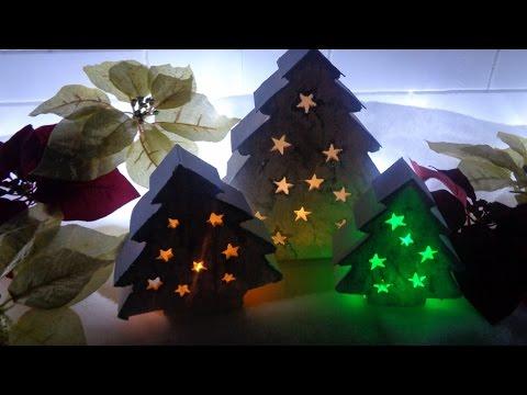 portacandele fai da te in stile natalizio