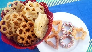Eggless Crispy Achu Murukku / Rose cookies /  Achappam   - in Tamil (NEW METHOD)