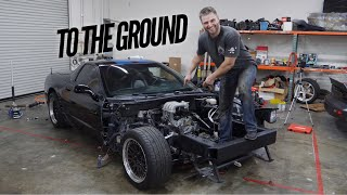 Rotary Corvette Touches the Ground for the First Time! So much work by Rob Dahm