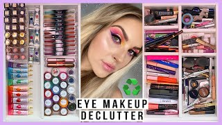 HUGE makeup declutter ♻️ eyeliners, mascaras, brows, liquid eyeshadows & more! by Shaaanxo