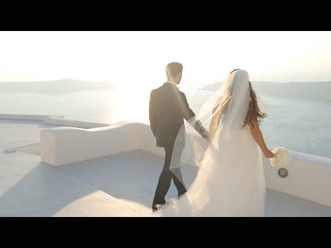 Roger + Elena's wedding in Santorini - Untitled Film Works (видео)