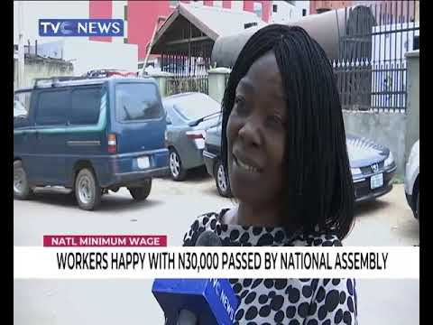Minimum Wage: Workers happy with N30,000 passed by National Assembly