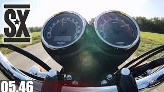 9. Triumph Bonneville T-100 Acceleration 0-100 km/h