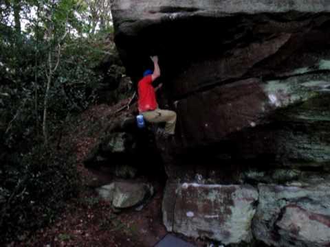 Stu on the 2nd ascent