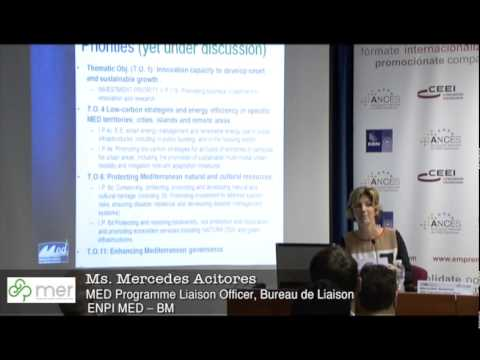 Mercedes Acitores, MED Programme Liaison Officer, Bureau de Liaison ENPI MED - BM – MED Programme Workshop Valencia MER Project