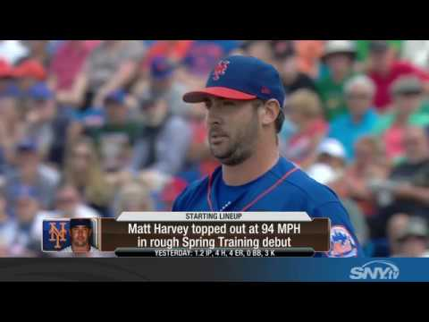 Video: Evaluating Matt Harvey's first spring training start: Good or Bad?