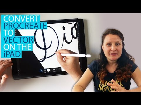 Procreate Lettering : Convert To Vector On The IPad (image Trace)