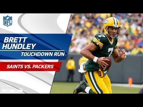 Video: Green Bay Takes the Lead w/ Brett Hundley's Huge TD Scramble! | Saints vs. Packers | NFL Wk 7