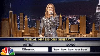 Wheel of Musical Impressions with Céline Dion