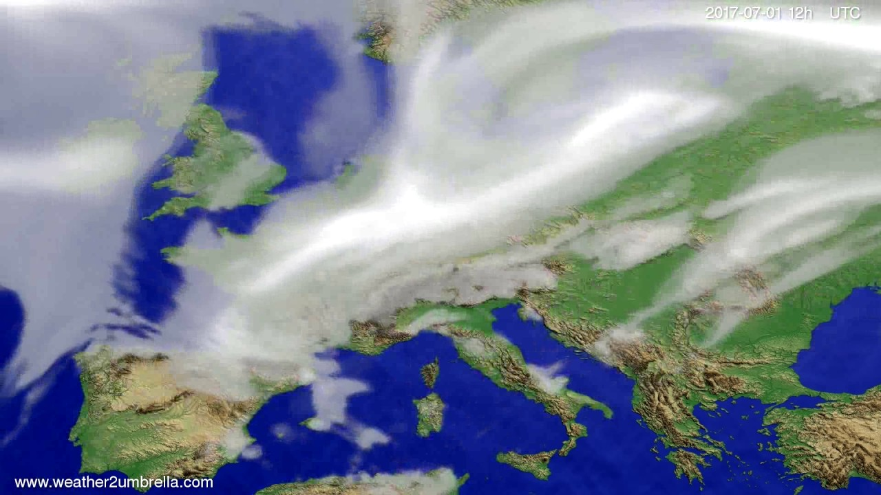 Cloud forecast Europe 2017-06-29