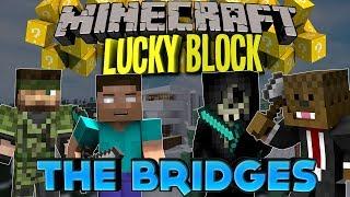 Minecraft: LUCKY BLOCK WINTER BRIDGES PVP w/JeromeASF, Taz,&Jeff (Modded Minigame)