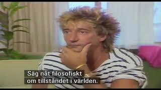 Rapports reporter Ingeleif Öhman gjorde en imporviserad intervju med Rod Stewart på Arlanda inför hans konsert på Stockholms...