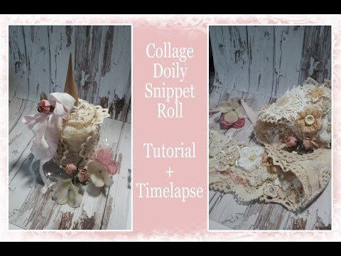 Collage Doily / Lace Snippet Roll with Luscious Laces