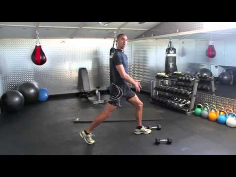 Split lunges. A great way to learn how to Lunge Safely and Effectively