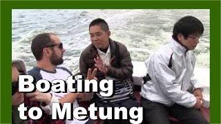 Boating to Metung, Gippsland Lakes, Victoria, Australia
