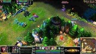 (HD063) 5c5 ALS vs Dignitas part 2- League of Legends Replay [FR]