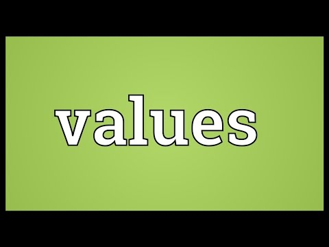 Values Meaning