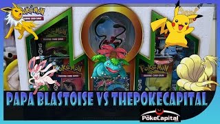 Pokemon TCG Venusaur Red & Blue Collection Box Battle Us vs Thepokecapital ! Epic Pulls ? by Papa Blastoise