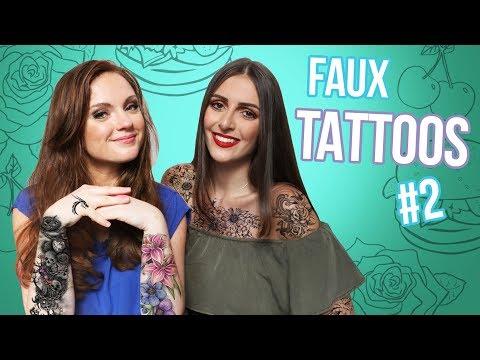 Tatouage éphémère tatoo papillons feuillages fleurs