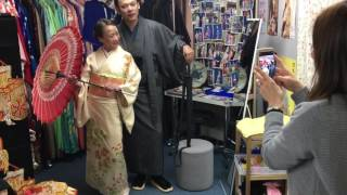 after wearing kimono