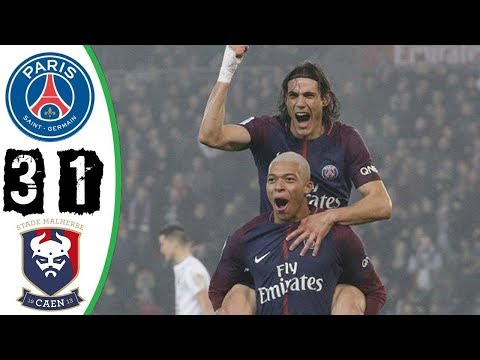 PSG vs Caen 3-1 - Extende dHighlights & All Goals - 20/12/2017 HD