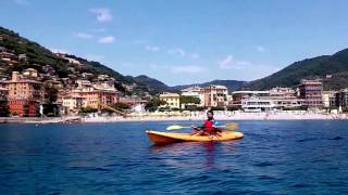 Recco Italy  City new picture : KAYAK in RECCO ITALY .. mediterranean sea kayak experience :)