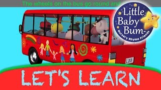 "Let's Learn ""Wheels On The Bus""! With LittleBabyBum"