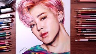 Download Lagu BTS : Jimin - colored pencil drawing | drawholic Mp3