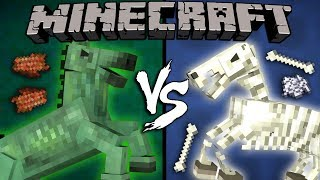 Zombie Horse vs. Skeleton Horse - Minecraft