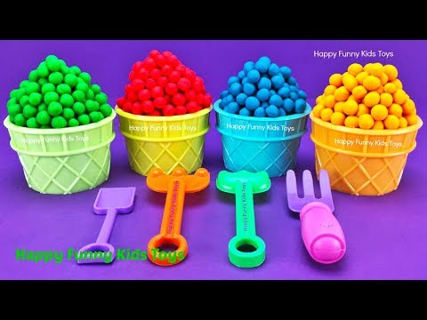 Play Doh Dippin Dots Ice Cream Cups Surprise Eggs Fun for Kids