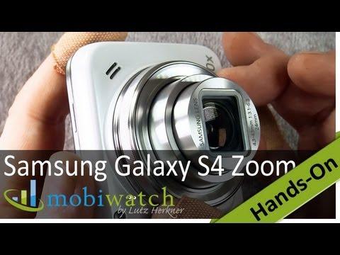 Das Samsung Galaxy S4 Zoom im Hands-on Test: vorne Kamera, hinten Handy