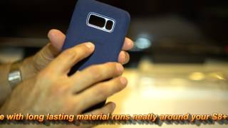 If you like slim cases or a barely there case? Take a look at the Samsung Alcantara Cover Case for the Galaxy S8+ / S8. The case has the nice feel and touch of the Alcantara fabric. The Alcantara fabric is suppose to clean easily. So don't worry if you spill some food on the case. You should be able to clean it fairly easily. The Samsung Alcantara Cover Case comes in different colors, in this review I happen to have the blue cover case, looks great! Also have been testing the case and carrying around for about 3 weeks and so far no  stains.