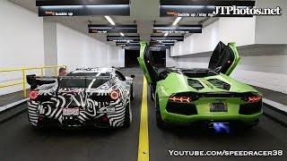 Video Ferrari vs Lamborghini shooting flames competition MP3, 3GP, MP4, WEBM, AVI, FLV November 2017
