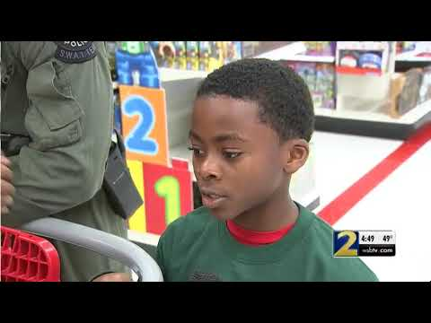 Atlanta's finest helped spread some holiday cheer taking kids to shop for holiday gifts