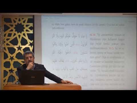 Tuncer Namlı - Zuhruf Suresi (68-89) Ayetlerin Tefsiri