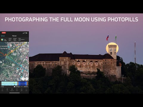 Photographing the full moon using Photopills