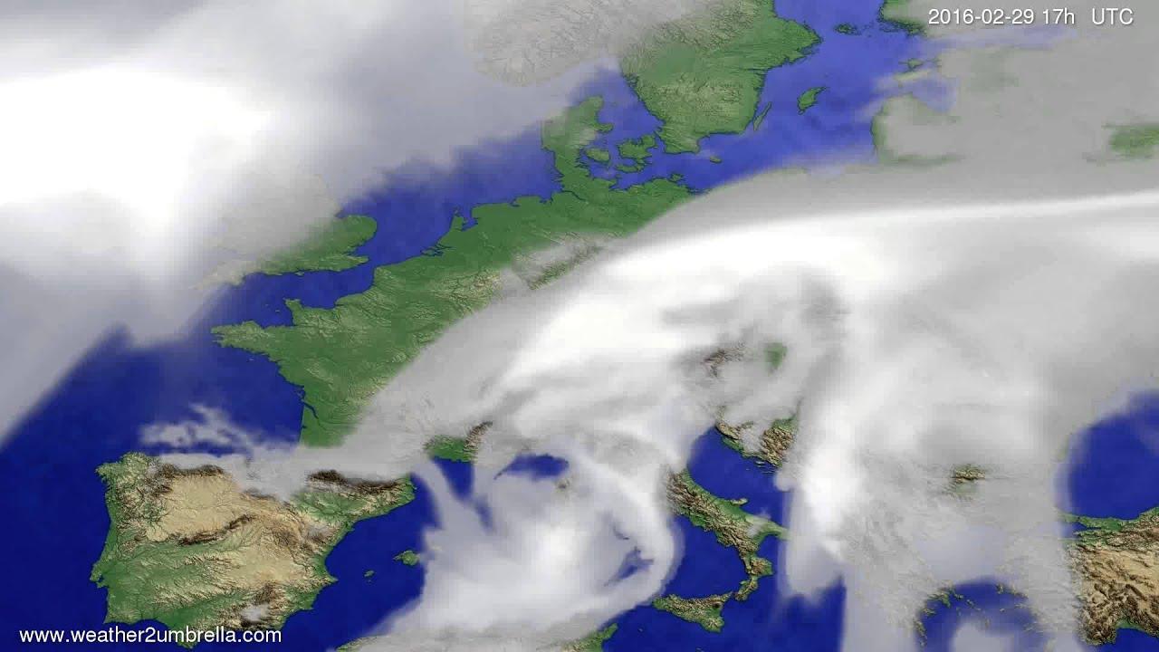 Cloud forecast Europe 2016-02-27