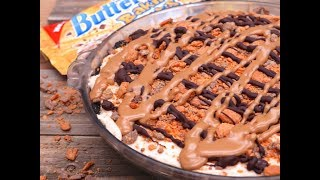 """❤️ SUBSCRIBE: http://bit.ly/divascancookfan   We call these type of no-bake creamy desserts """"cookout pies"""" in my family because it never fails that at least one will show up at a family cookout! My husband joined me in the kitchen (with his nonstop butter jokes, as always hehehe love him!) to help me make this naughty no-bake peanut butter Butterfinger pie!This pie is heavenly y'all!! Just full of peanut butter goodness I tell ya! You'll appreciate how quick and easy this one is and the fact that no oven is needed is just an added bonus!! #winningandsinningEnjoy!GET RECIPE:  http://divascancook.com/no-bake-peanut-butter-butterfinger-pie-recipe/___________________________________________________________________🍕🍔🍰FAN FAVORITED RECIPES:🍦🍩🍟How To Make Cake Pops: https://youtu.be/9BcBK2_nKmAHow To Make Baked Mac n Cheese: https://youtu.be/e8S1vFC8zYkHow To Make Crispy Fried Chicken: https://youtu.be/JXCmp1jMi0w--------------------------------------------------------------------------------------------🤗FOLLOW ME ON SOCIAL MEDIA! 👠😘OFFICIAL WEBSITE: http://divascancook.comFACEBOOK: http://www.facebook.com/divascancookfanpagePINTEREST: http://pinterest.com/divascancook/INSTAGRAM: https://instagram.com/divascancook/TWITTER: https://twitter.com/divascancookGGOGLE+: https://plus.google.com/+divascancook/posts____________________________________________________________________"""