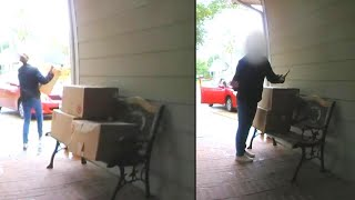Woman Returns Packages After Homeowner Catches Her on Camera