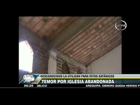 Huacho: Iglesia abandonada es utilizada para realizar rituales satánicos