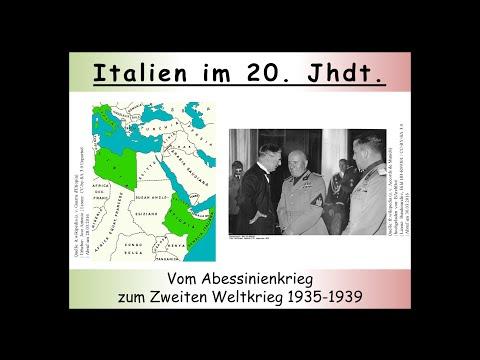 Das faschistische Italien vom Abessinienkrieg bis zum A ...